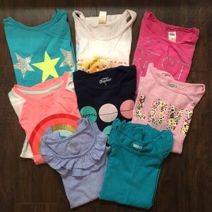 Girls summer shirt lot